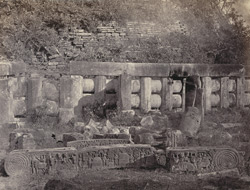 Ruins of southern gateway, Sanchi Tope